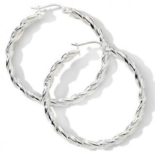sterling silver 1 38 twisted hoop earrings d 20090825192522033