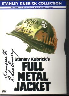 Full Metal Jacket Marine Gunny R Lee Ermey Signed DVD