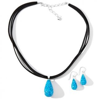 Jay King Sleeping Beauty Turquoise Sterling Silver Pendant, Necklace
