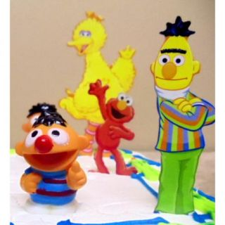 16pc Sesame Street Birthday Cake Topper Set Elmo Big Bird Cookie
