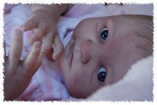 Reborn EMMA doll lifelike art ARTIST Newborn Baby Belly Painted hair