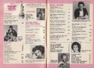 Soap Opera Digest July 29 1986 Emma Samms Colleen Casey Greg Marx