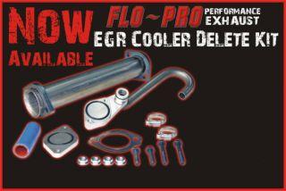 Ford 6 0L EGR Delete Cooler Delete Kit 2003 2007 Powerstroke Flo Pro