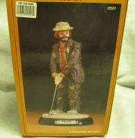Emmett Kelly Jr Flambro Clown The Golfer Retired Original Box