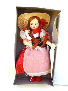 EROS FIRENZE CLOTH DOLL WITH CHICKEN IN ORIGINAL BOX MADE IN ITALY