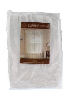 Elrene Home Fashions New Kenya White Sheer Animal Print Valance Drapes