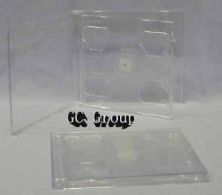 Standard 10 4mm Double Clear CD DVD Jewel Case Assembled Hold 2
