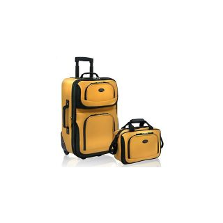 traveler rio expandable 2 piece luggage set in mustard rating 9 $ 43