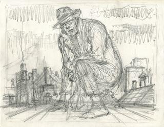 Will Eisner The Spirit Original Preliminary Drawing