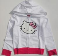 New Hello Kitty Shimmer Logo Hoodie Sweatshirt Sz 6