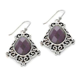 Jewelry Earrings Drop Studio Barse Quartz Sterling Silver Floral