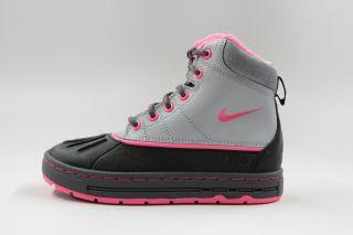 Nike Woodside ACG Grey Black Pink Authentic Winter Boot Pre School