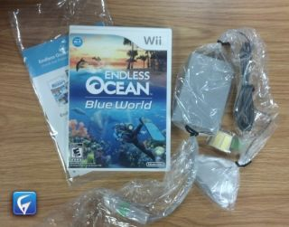 ENDLESS OCEAN BLUE WORLD WITH WII SPEAK   WII   USED IN CASE