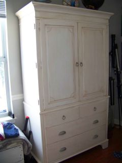 Ethan Allen Swedish Home Antique White Armoire