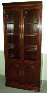 5958 Ethan Allen Georgian Court Bookcase Wall Unit Cabinet Curio