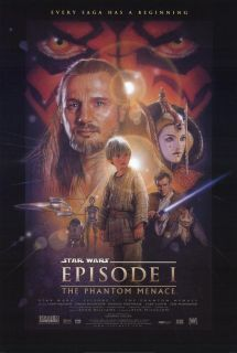 Star Wars Episode 1 Phantom Menace Movie Poster 2 Sided Original 27x40