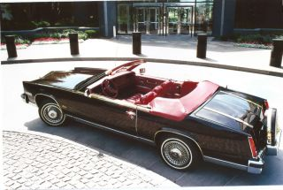 1984 Cadillac Eldorado Biarritz Convertible Original Parade Boot Red