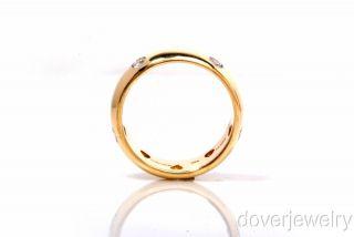 Tiffany & Co Etoile Diamond 18K Gold Platinum Wide Band Ring NR