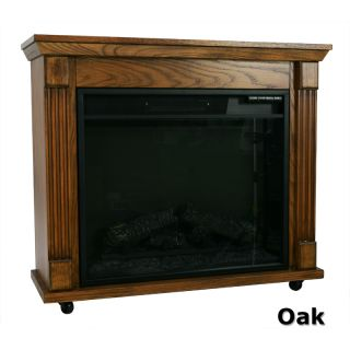 Oak Electric Flame Fireplace Ventless Portable Heater