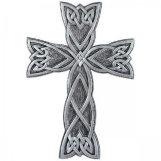 Celtic Knot Pewter Resin Irish Wall Cross