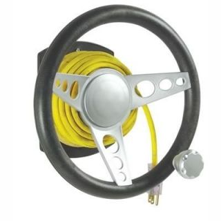Extension Cord Winder Steering Wheel with Suicide Knob Style Holds up