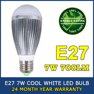 Cool White 7 LED Globe Bulb Light Lamp Energy Saving 110V 220V