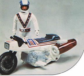 New in Box 1970s Evel Knievel Super Jet Stunt Cycle Set