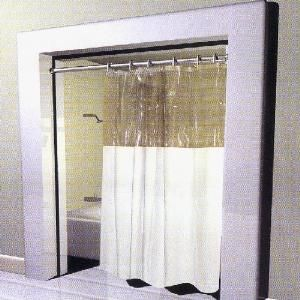 window vinyl clear top shower curtain 72 x 84 x long