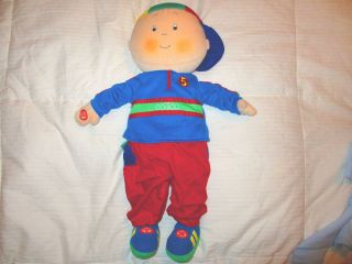Caillou Character Toy Pretend Play Doll Plush English French