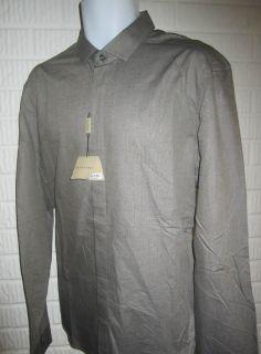 Burberry Mens Pewter Gray Long Sleeve Shirt Sepworth 16 41EU Retail