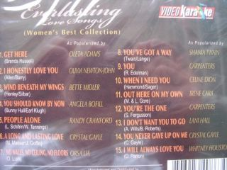 Everlasting Love Songs Mens Collection Karaoke VCD New
