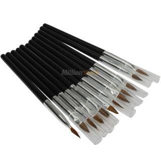 New Black Eyeliner Gel Makeup Cosmetic Waterproof Eye Liner and Brush