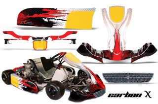 KART GRAPHICS DECAL STICKER KIT KG EVO STILO PARTS ACCESSORIES CARBON