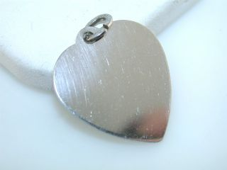this auction is for vintage engravable heart sterling silver charm