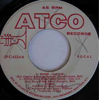 Cream Eric Clapton Atco EP 4534 Promo from 1969 RARE$