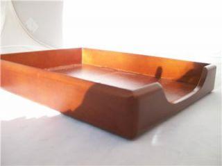 NWT Rolodex Mahogany Wood Tones Letter Desk Tray 23350