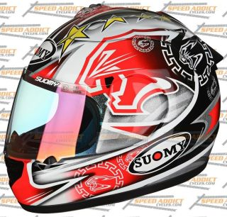 Suomy Spec 1R Extreme Excel BIAGGI Full Face Motorcycle Helmet Medium