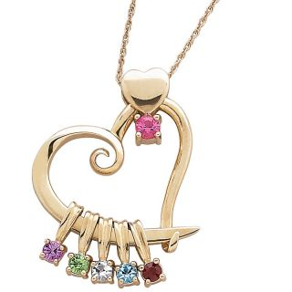 birthstone color crystal pendant with 20 rope chain rating 10 $ 92 00