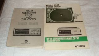Yamaha Home Electronics Instruction Service Manuals
