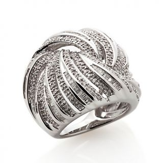 Jewelry Rings Gemstone 1.25ct Diamond Sterling Silver Bold Band