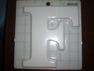 NEW WHITE KIDKRAFT WOODEN LETTER F