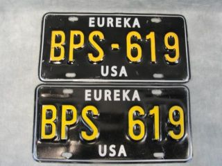 Eureka Deputy Jo Lupo Erica Cerra Screen Used License Plate Set for