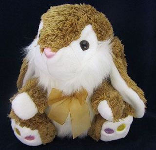 Dan Dee Brown White Plush Stuffed Bunny Rabbit EUC Animal Easter Eggs