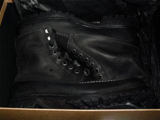 300 John Varvotos Eriksen Boots Mens Military Lace Up Shoes Lead Black