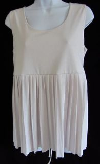 Edition by Erin Fetherston Light Pink Pleated Tank Top Tunic Shirt S