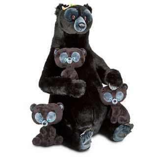 LARGE 28 Merida Mother Bear Queen ELINOR Plush doll & Triplet Cubs
