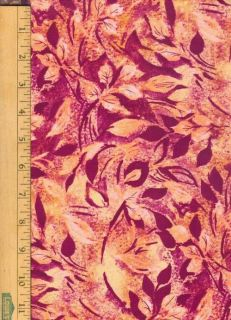 % Cotton Quilting Sewing Fabric B Erlanger Mystic Breeze Bright Leaf