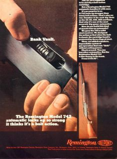 1967 Ad Remington Model 742 Automatic Shotgun Rifle Original