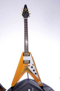 Epiphone FLYING V Guitar (Korina Wood) With Hard Shell Case