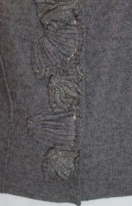 Sparrow Anthropologie Embroidered Dress Wool Sweater Garden Cardigan